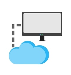 Cloud and connected computers vector