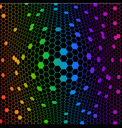 abstract colorful octagons vector image vector image