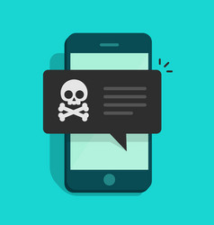 back malware notification on mobile phone vector image vector image