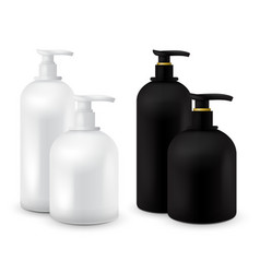 Big set of jar with liquid soap for your logo and vector