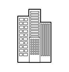 Buildings cityscape scene icon vector