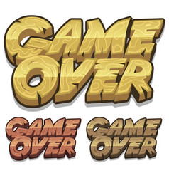 Cartoon game over icon for ui game vector