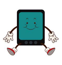 Cartoon kawaii tablet device technology funny vector