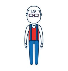 cartoon man standing icon vector image