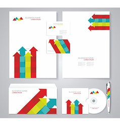 Corporate identity template color elements vector image vector image