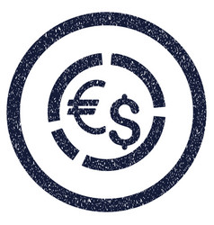 Currency diagram rounded grainy icon vector