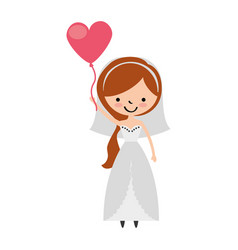 cute wife with shaped heart pumps avatar character vector image