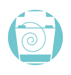 dental floss isolated icon vector image
