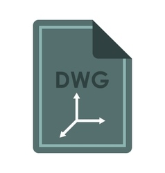 File dwg icon flat style vector