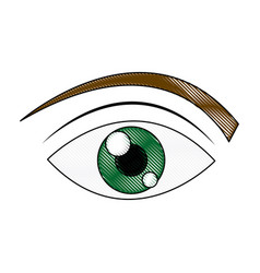 Green eye cartoon people watch image vector