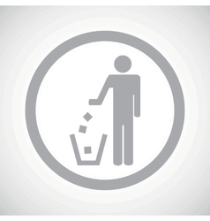 Grey recycling sign icon vector image
