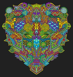 hand drawn decorative zentangle vector image