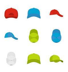 Helmet icons set flat style vector