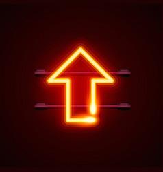 heon sign arrow up signboard vector image