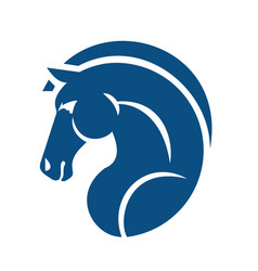 horse head logo design vector image