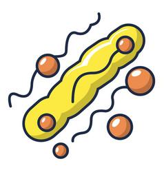 long oval virus icon cartoon style vector image vector image