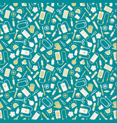 Medical seamless pattern vector
