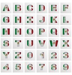 Mexico alphabet vector