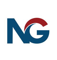ng n g business letter logo design vector image