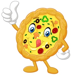 Pizza give thumb up vector image vector image