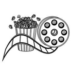 Pop corn and film production clipart icon vector