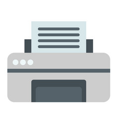 Printer flat icon fax and office vector