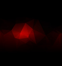 Red brown black low poly background vector