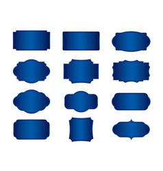 Set blue banners vector