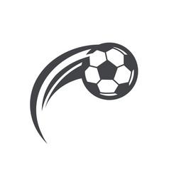 swoosh soccer football logo icon vector image vector image