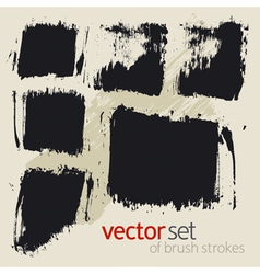 brush strokes set 2 vector image