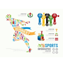 Sports template design infographic concept vector