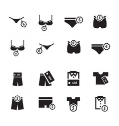 Underwear icon design set vector
