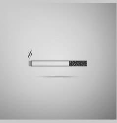 Cigarette icon tobacco sign smoking symbol flat vector