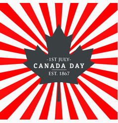 Canada day greeting background vector