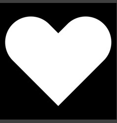 Heart it is the white color icon vector