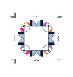 Trendy card frame style design abstract geometric vector