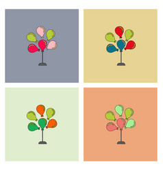 balloons collection vector image