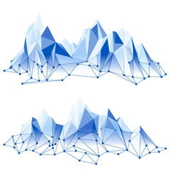poly mountains vector image