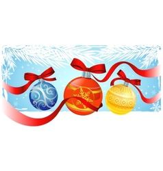 Chrismas greeting card vector image