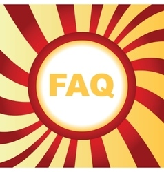 Faq abstract icon vector