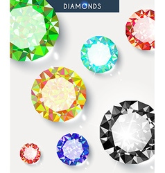 Background with a big shiny and colored diamonds vector