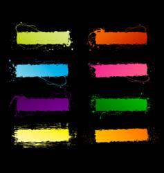 spectrum grunge frames vector image