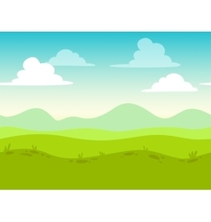 Cartoon flat seamless landscape vector image