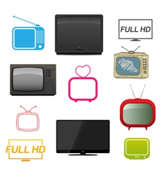 Set of different tv vector