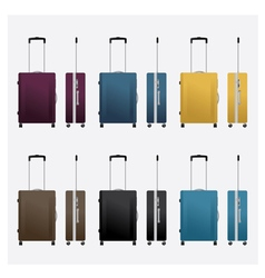 Colorful travel luggage vector