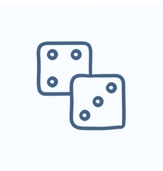 Dices sketch icon vector
