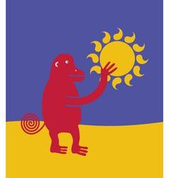 Ape who stole the sun vector