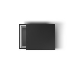 black empty box mock up on white background top vector image vector image