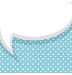 Blank blue balloon template vector