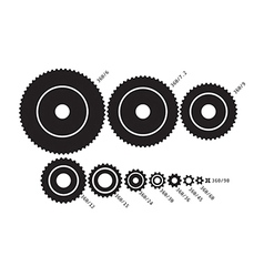 Cogs set vector image